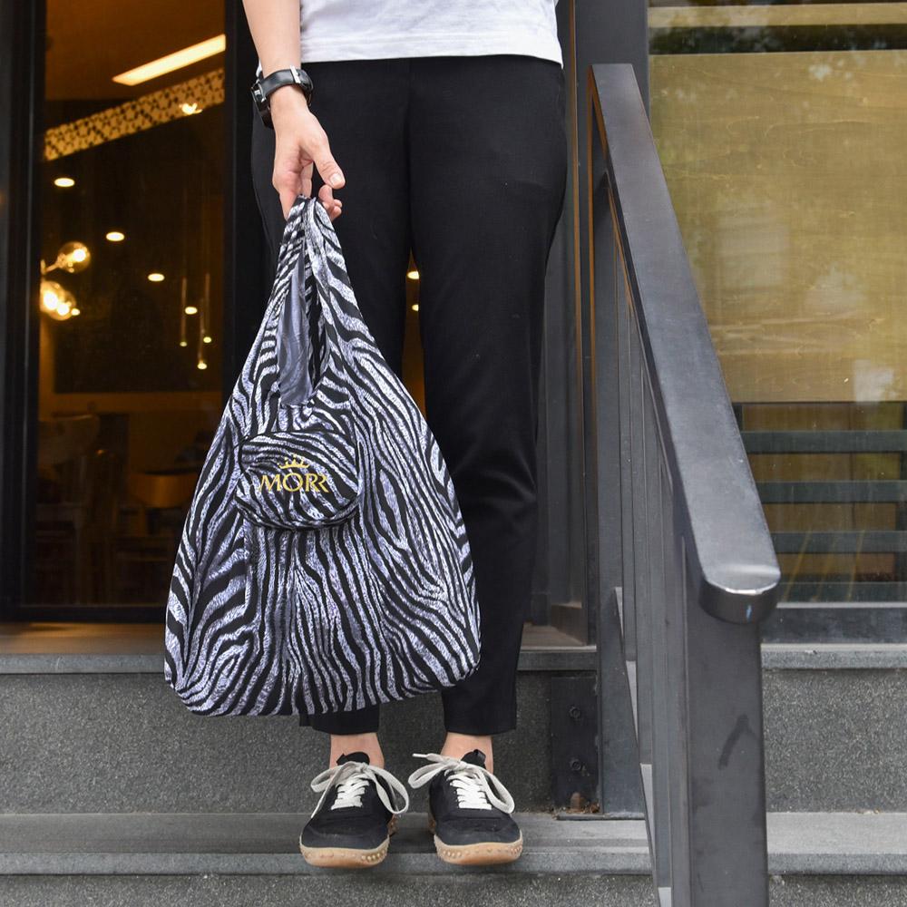 MORR|動物派對-防撥水收納購物袋(斑馬紋)