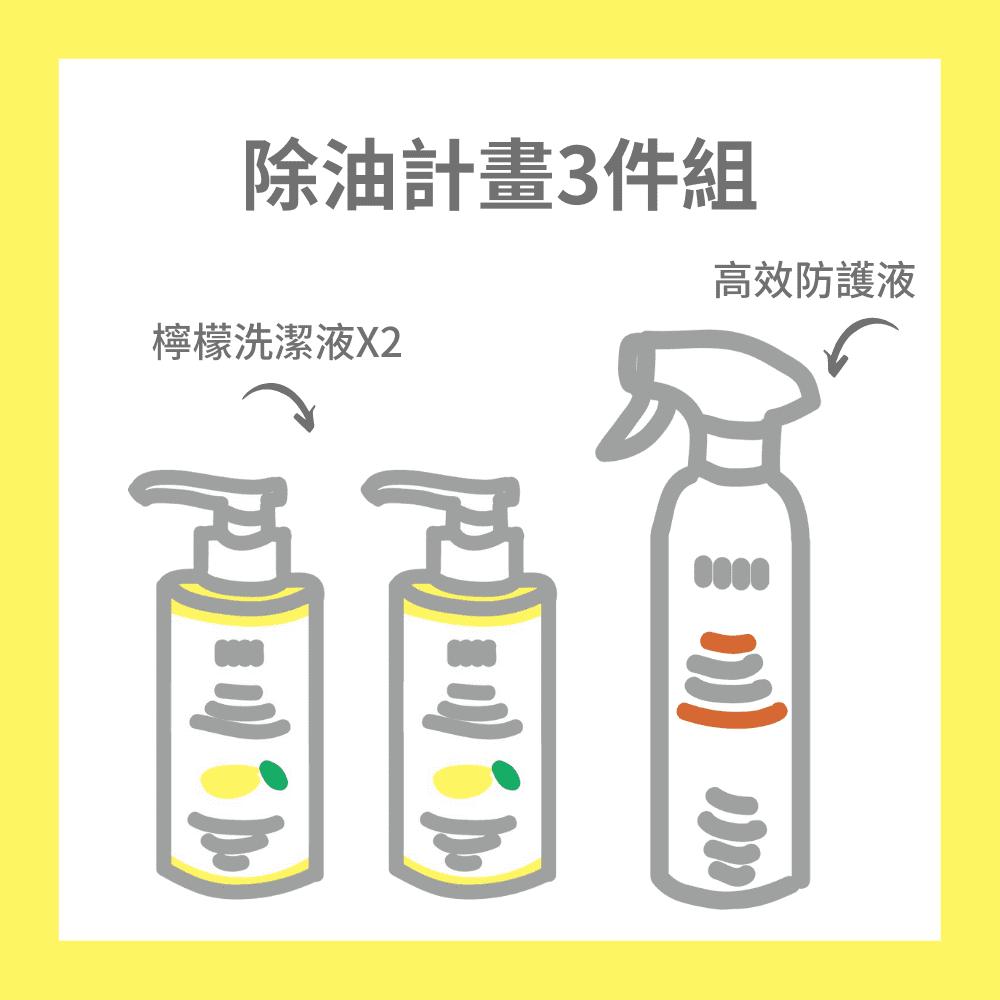 EASE 簡易淨|除油計畫3件組