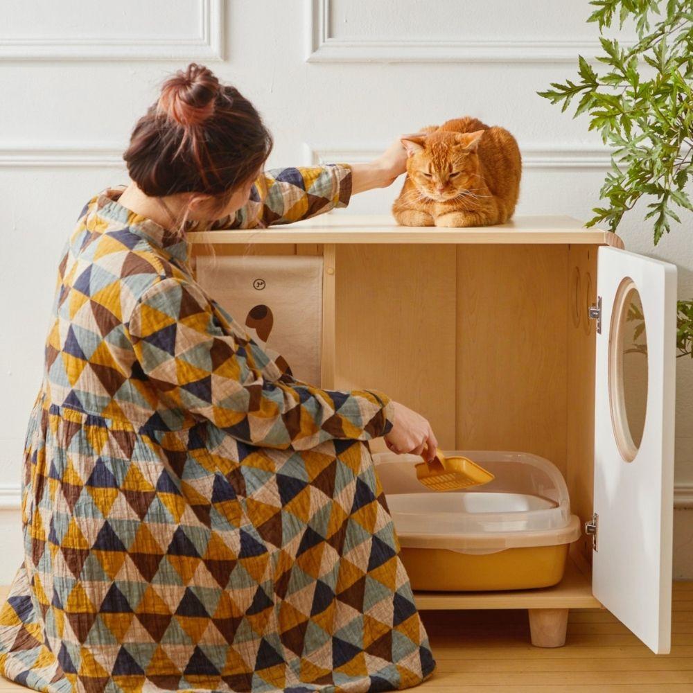 拍拍|貓砂櫃-單盆款 (需自行組裝)