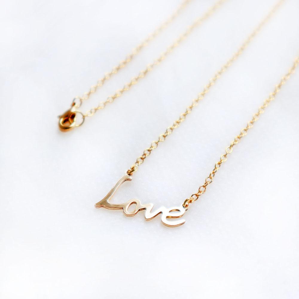 雅治設計 卡片項鍊-文字款- love