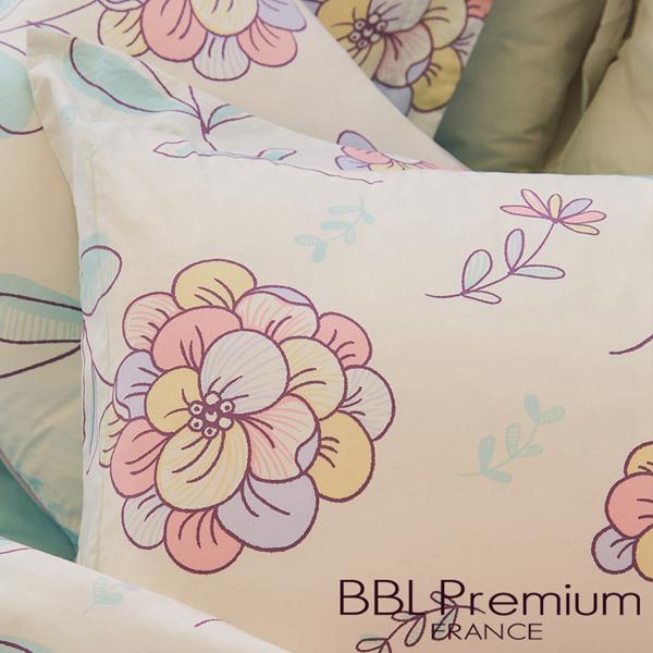 (複製)BBL Premium 【咕咕花落米】100%棉.印花床包組(單人)