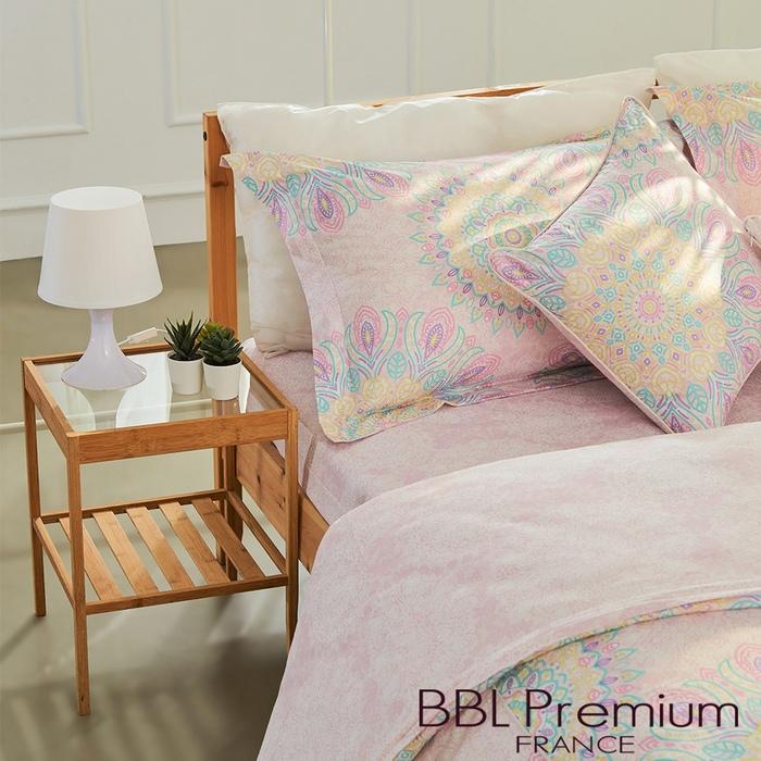 BBL Premium|【咕咕花落米】100%棉.印花床包組(單人)