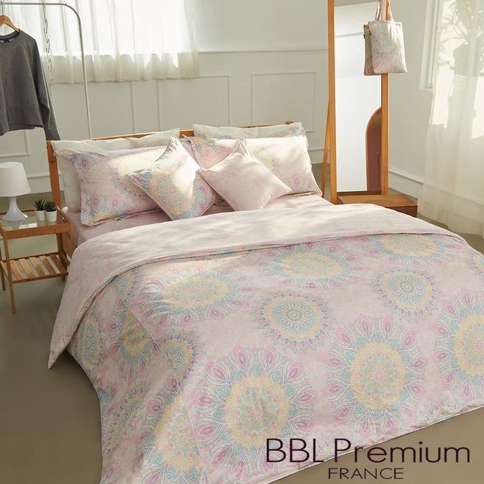 (複製)BBL Premium|【咕咕花落米】100%棉.印花兩用被床包組(雙人)