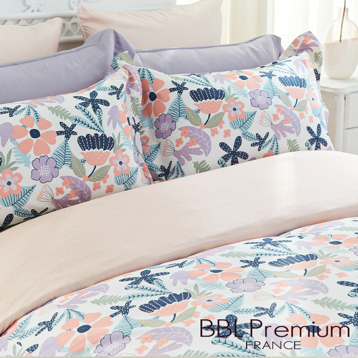 BBL Premium 【花花狂想曲】100%棉.印花床包組(雙人)