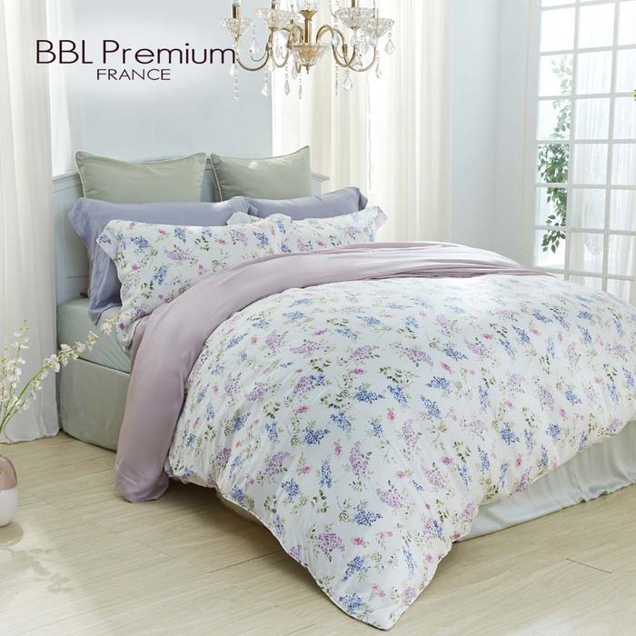 BBL Premium|100%天絲印花床包組-紫藤精靈(加大)