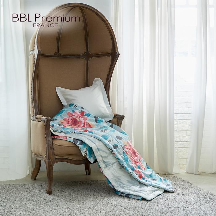 (複製)BBL Premium|100%天絲纖維印花鋅力綿涼被-紫藤精靈(雙人)