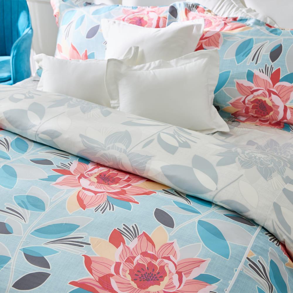 BBL Premium|100%天絲印花兩用被床包組-向陽芳庭(加大)