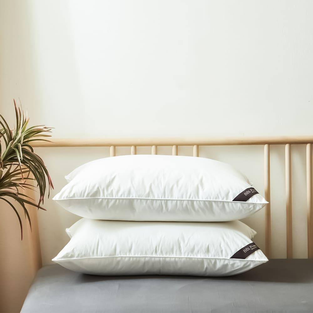 BBL Premium|CN9-飯店款高級羽毛枕-銀白(一對)