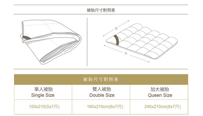 BBL Premium Body Fitted特級輕柔JIS70/30羽絨冬被-雙人