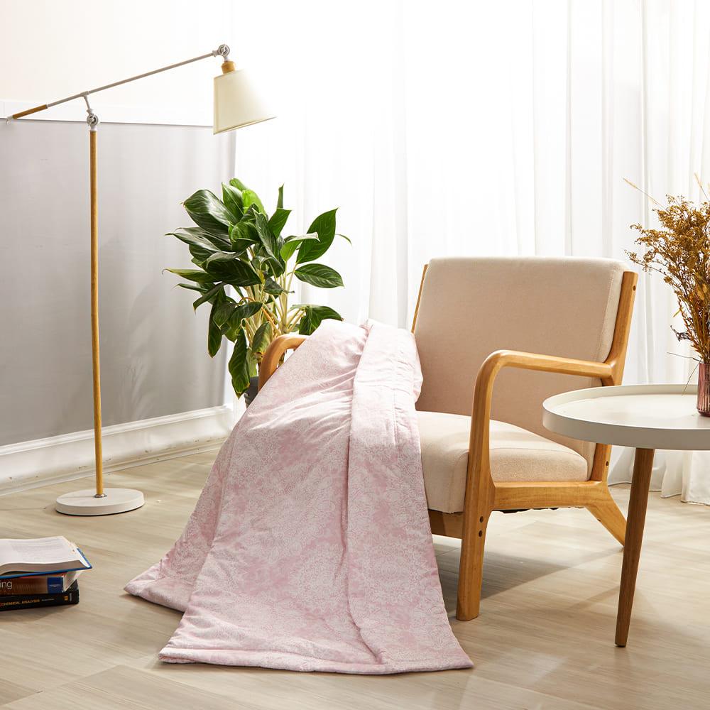 BBL Premium 100%棉.印花傳統涼被-粉色摩洛哥(單人)
