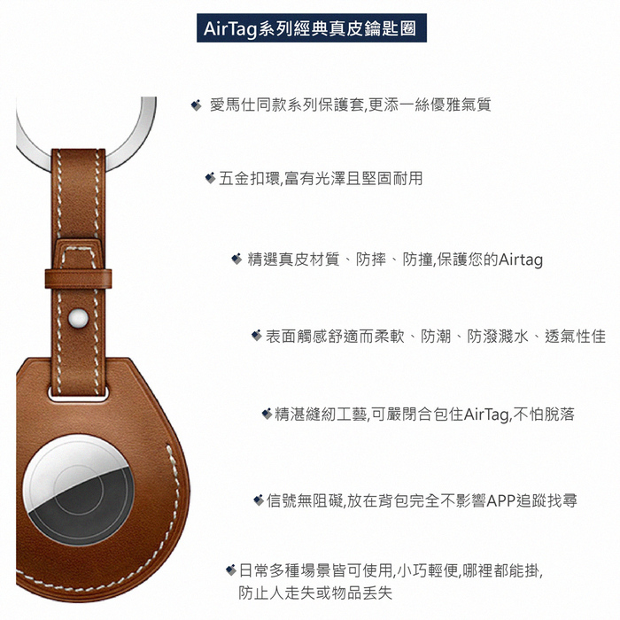 (複製)WiWU   AIRTAG系列皮革掛環 2色