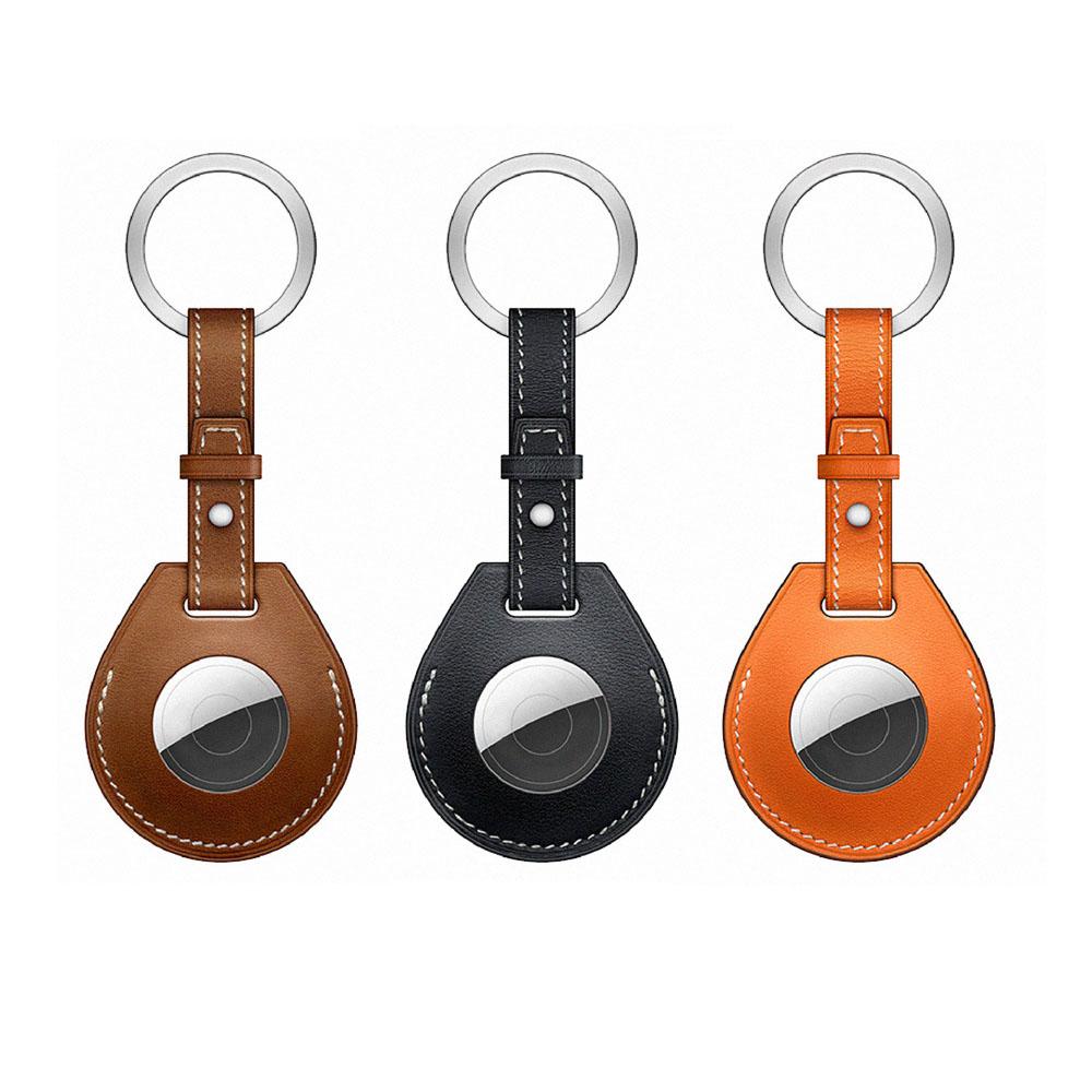 WiWU AirTag系列經典真皮鑰匙圈 3色