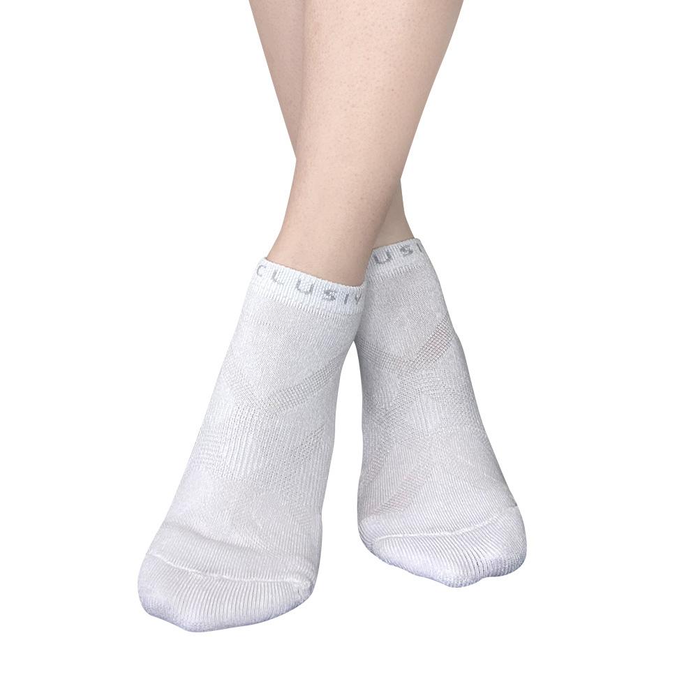 XCLUSIV PREMAZN 抑菌除臭抗敏照護踝襪-奧地利天絲/氧化鋅(白色)