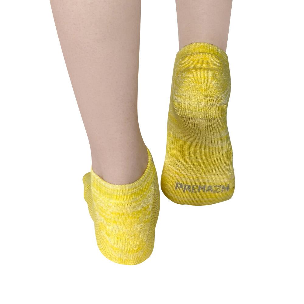 XCLUSIV|PREMAZN 抑菌除臭抗敏照護踝襪-奧地利天絲/氧化鋅(黃色)