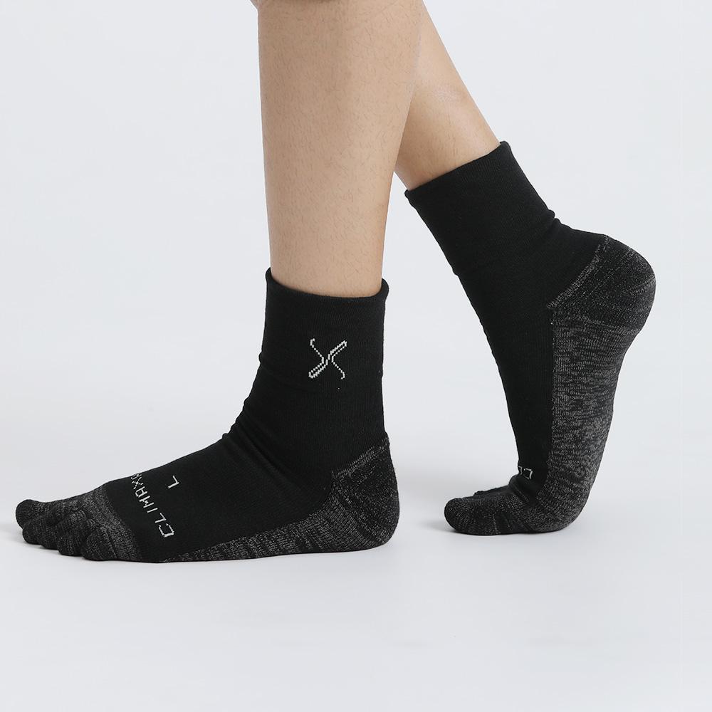 XCLUSIV CLIMAXAG可立滅 美國FDA銀纖維健康照護五趾襪(深邃黑)