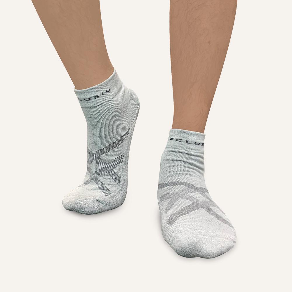 XCLUSIV|PREMAGE 全方位鍺纖維遠紅外線保暖襪(6雙-銀灰色)