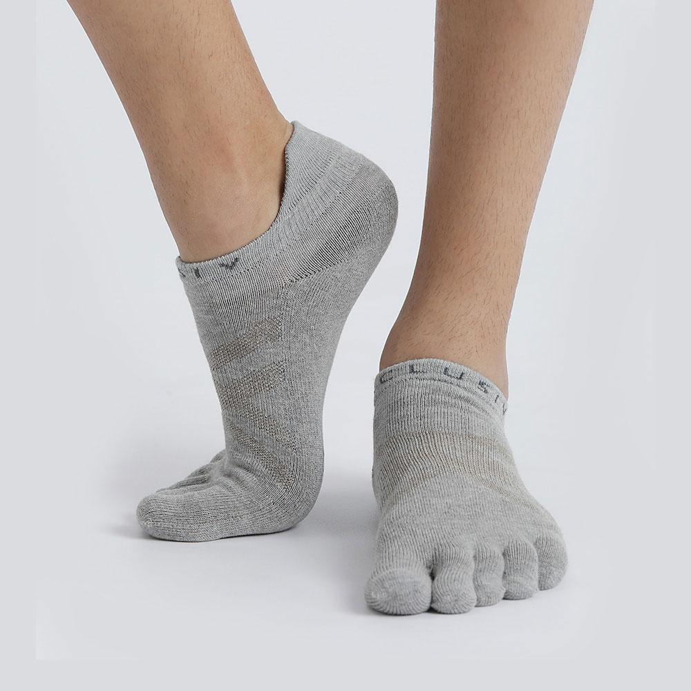 XCLUSIV CLIMAXAG可立滅 照護五趾船型襪(灰色)