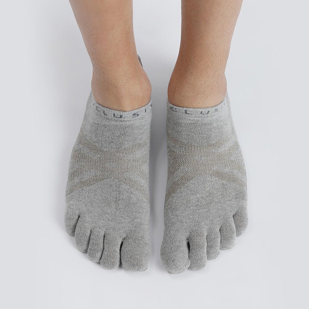 XCLUSIV|CLIMAXAG可立滅 照護五趾船型襪(3雙-灰色)