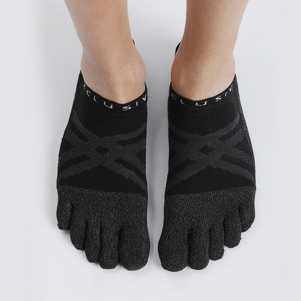 XCLUSIV|CLIMAXAG可立滅 照護五趾船型襪(黑色)