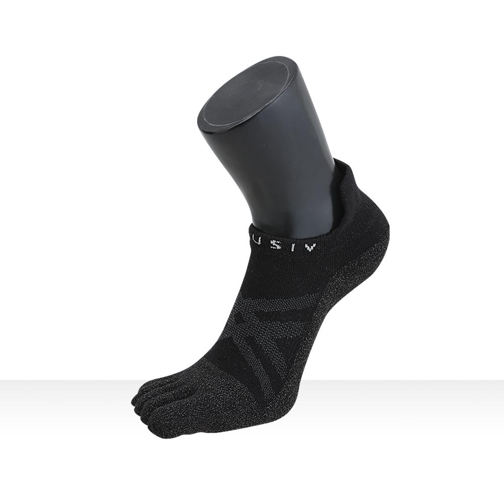 XCLUSIV CLIMAXAG可立滅 照護五趾船型襪(3雙-黑色)