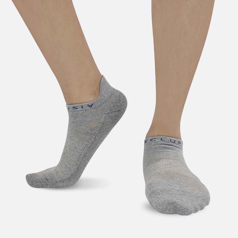 XCLUSIV CLIMAXAG可立滅 照護船型襪(3雙-灰色)