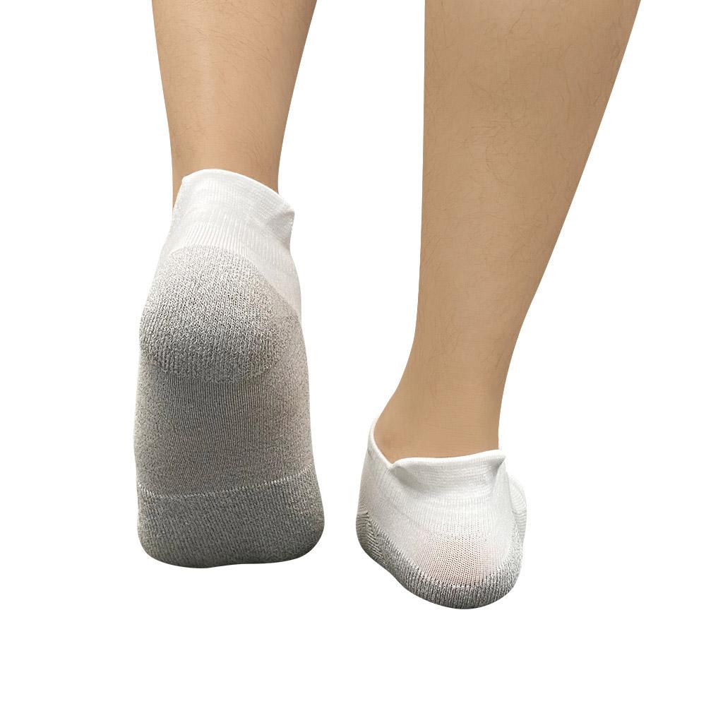 XCLUSIV|CLIMAXAG可立滅 銀纖維健康照護五趾船型襪(白色)