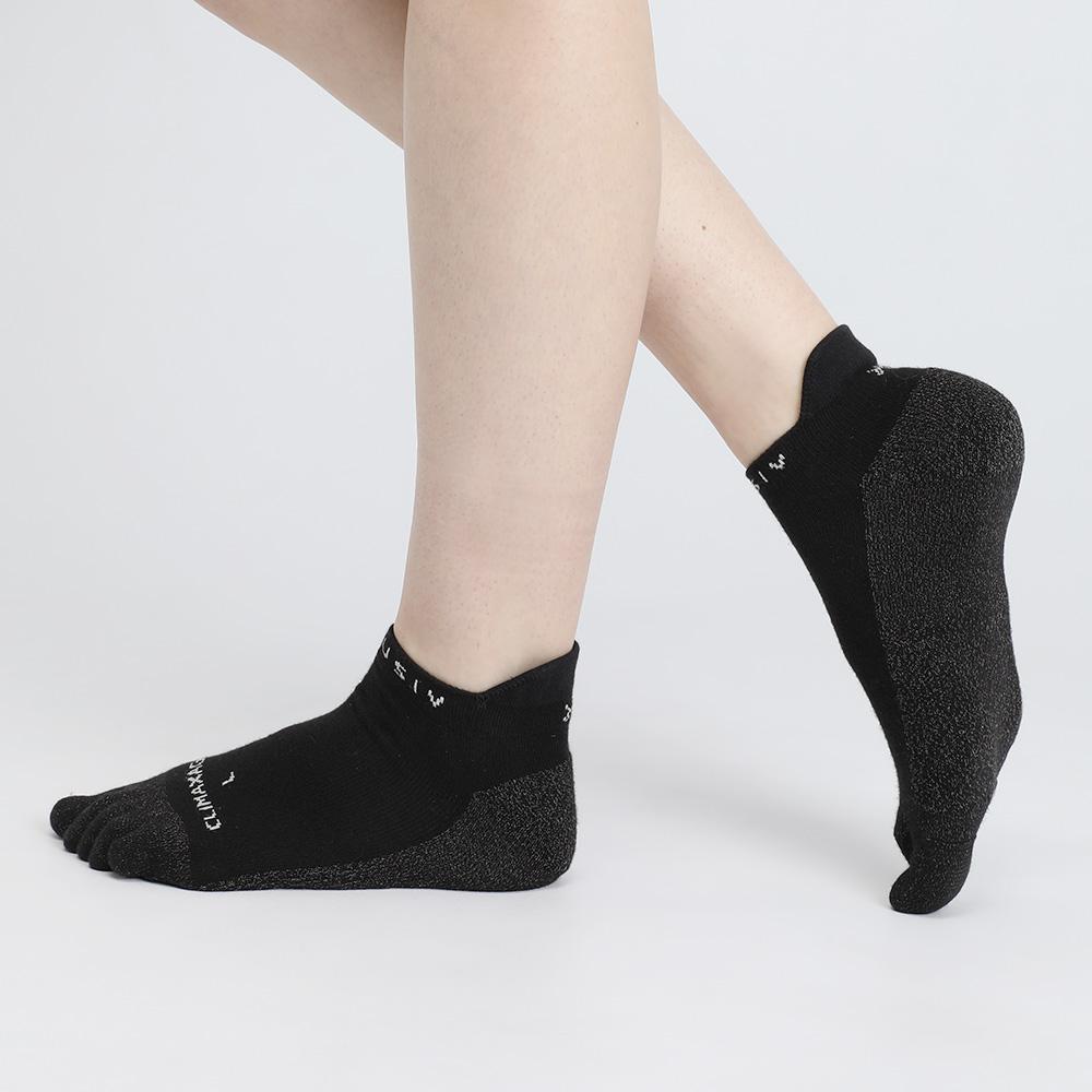 XCLUSIV|CLIMAXAG可立滅 銀纖維健康照護五趾船型襪(黑色)