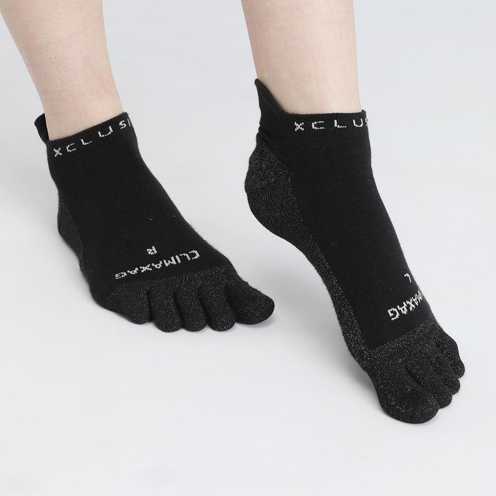 XCLUSIV|CLIMAXAG可立滅 銀纖維健康照護五趾船型襪(3雙-黑色)