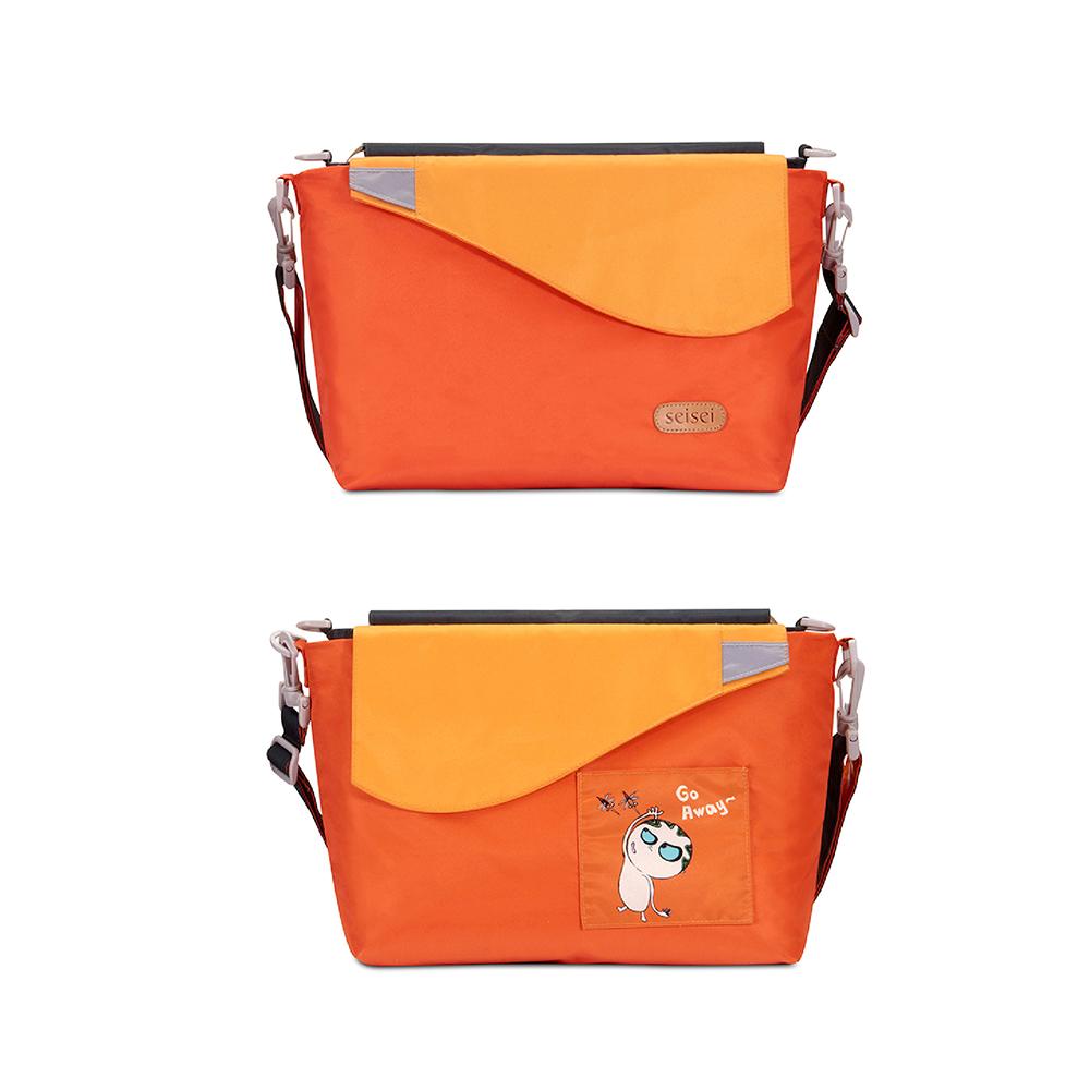 seisei|遛遛包-斜背包+托特包 二合一多功能收納 (就是橘 Tangerine)