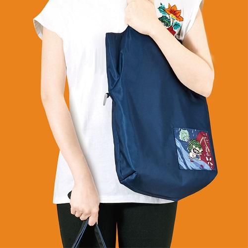seisei|雙色托特包-肩背手提兩用 翻面換色 雙正面 (非常藍 Indigo)