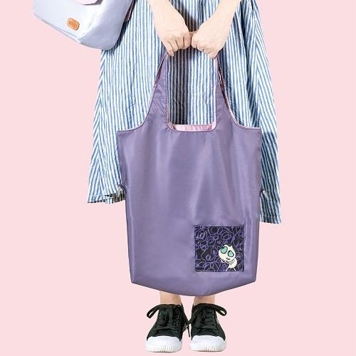 seisei 雙色托特包-肩背手提兩用 翻面換色 雙正面 (有點紫 Lavender)