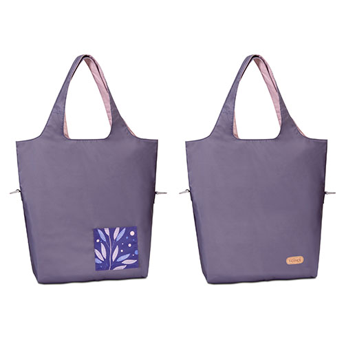 seisei|雙色托特包-肩背手提兩用 翻面換色 雙正面 (櫻花粉 Cherry blossom)