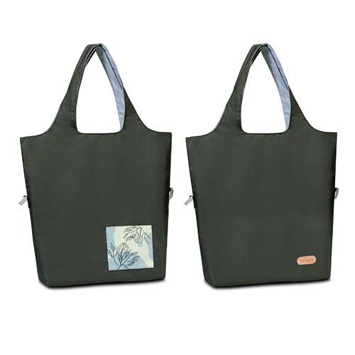 seisei|雙色托特包-肩背手提兩用 翻面換色 雙正面 (雲石灰 Mist blue)