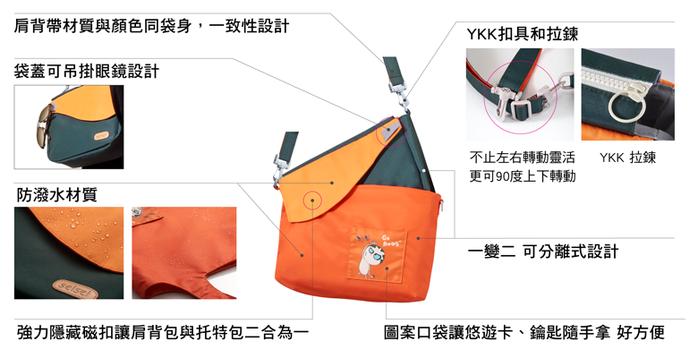 seisei|遛遛包 yoyo bag (就是橘 Tangerine)