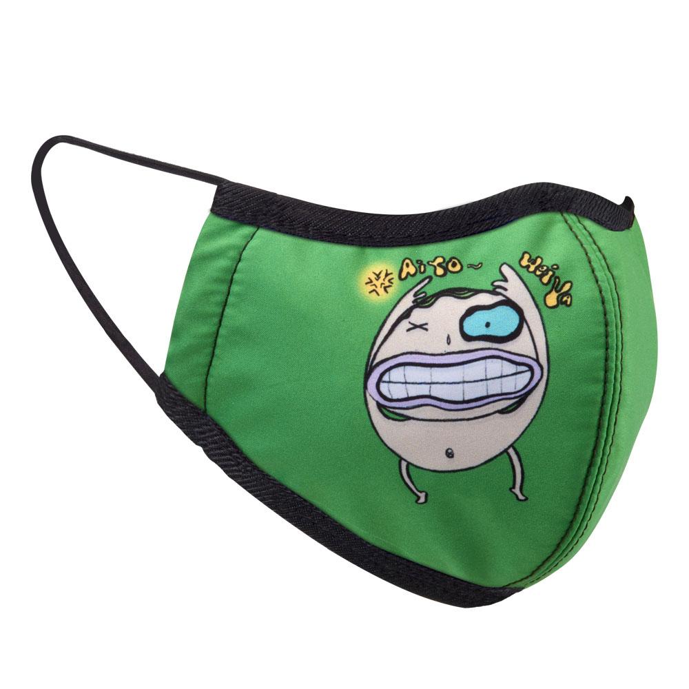 seisei 雙層抗菌消臭布口罩_專利銅元素+德國氧化鋅 (巴帝-綠)