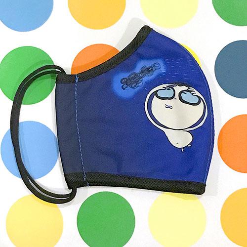 seisei|雙層抗菌纖維環保布口罩-巴帝下雨天(藍)