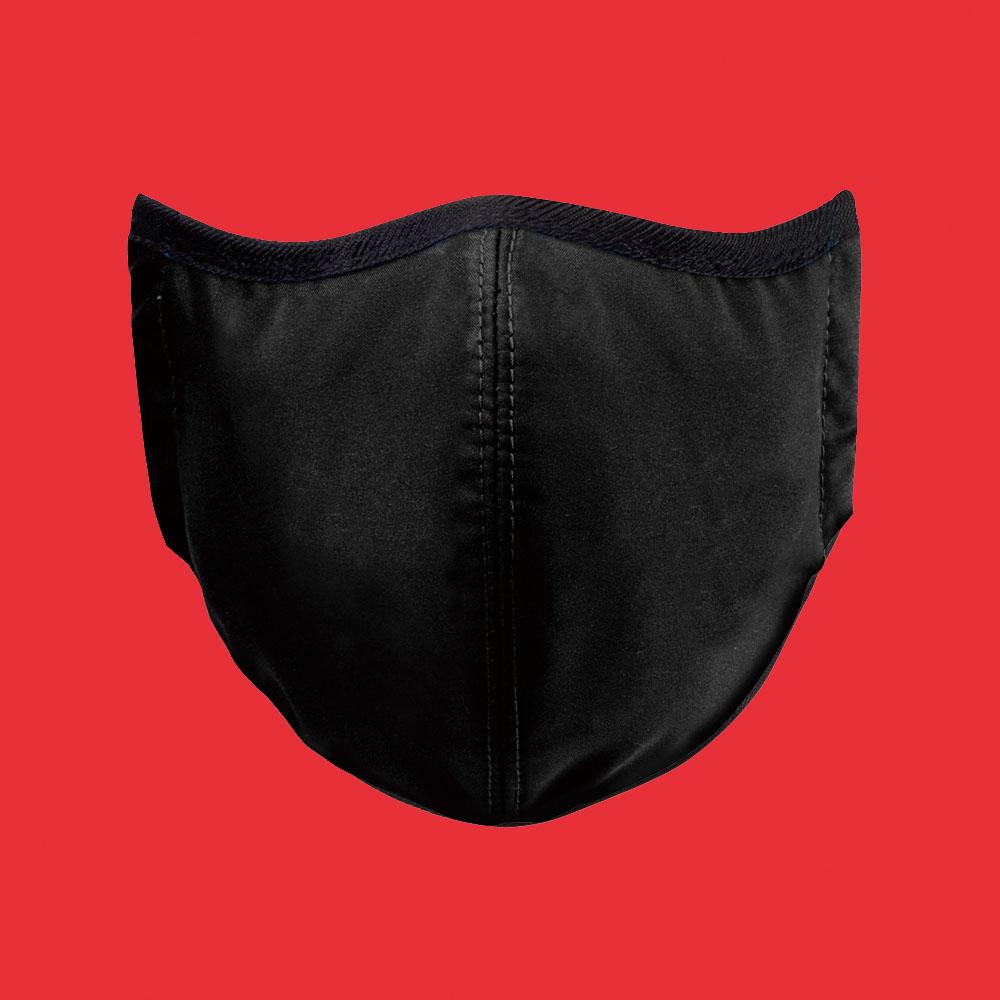 seisei 雙層抗菌纖維環保布口罩-玩色(時尚黑)