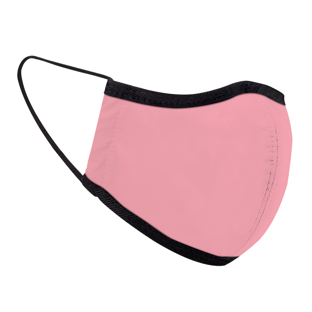 seisei|雙層抗菌纖維環保布口罩-玩色(櫻花粉)