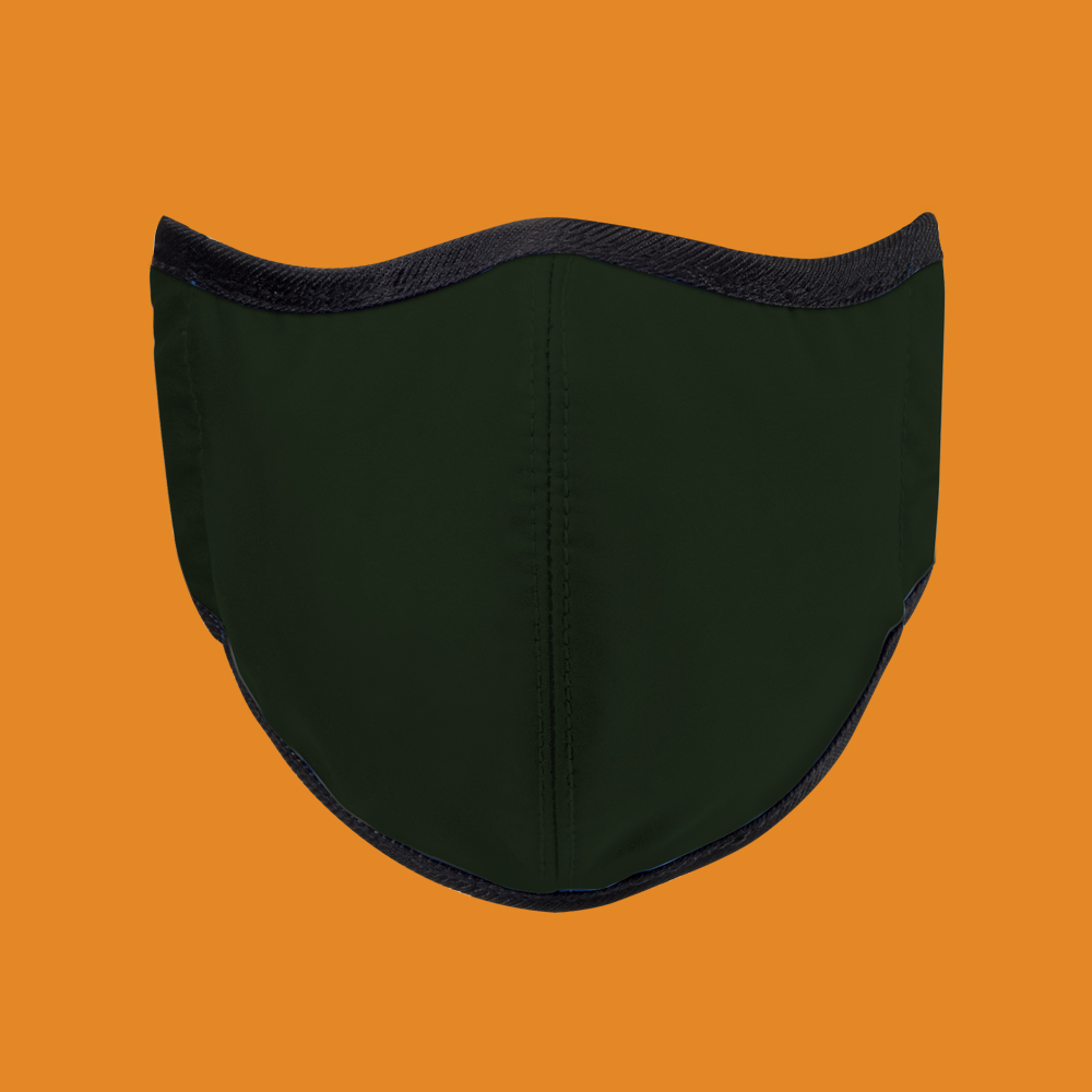 seisei 雙層抗菌纖維環保布口罩-玩色(石墨綠)
