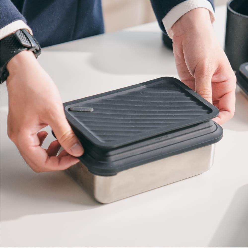 【集購】LiFE RiCH Double Box 可微波不鏽鋼便當盒 (雙蓋組)