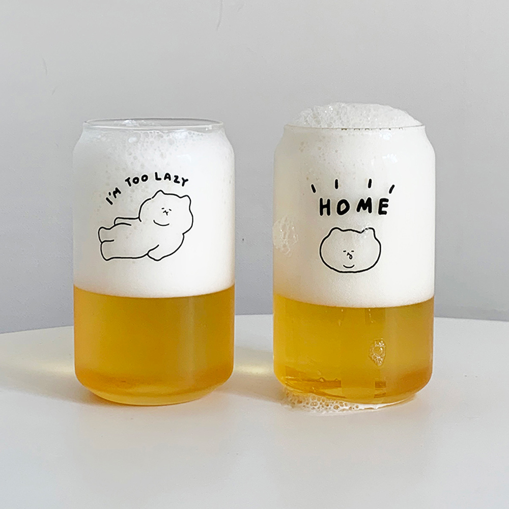 3MONTHS 悠仔啤酒造型玻璃杯(350ml)