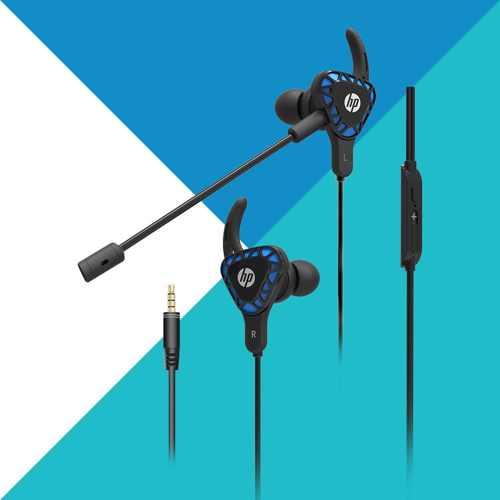 HP 惠普 入耳式可拆麥線控電競耳機 H150