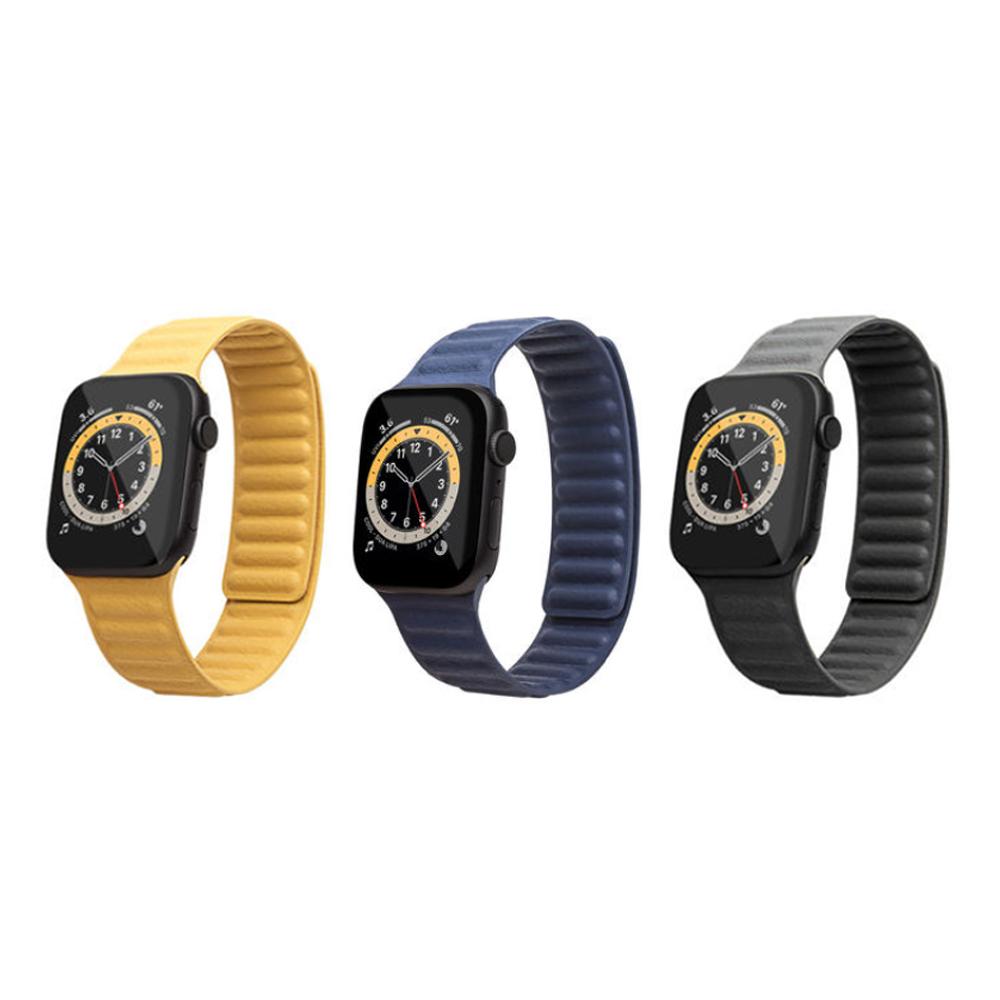 QIALINO|Apple Watch (42/44mm) 真皮製鏈式錶帶
