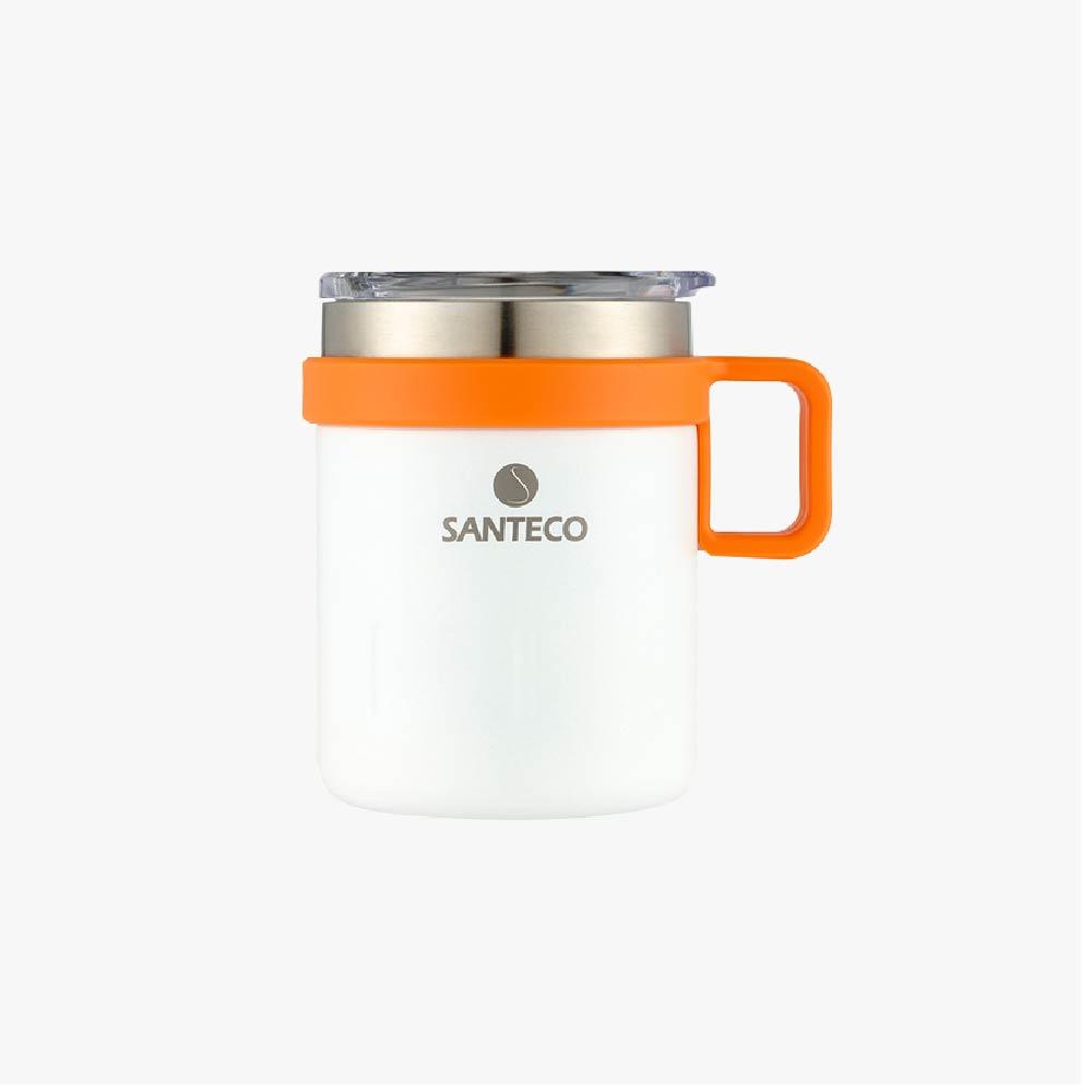 SANTENCO KEMI 透明上蓋馬克杯 350ml (牛奶白)