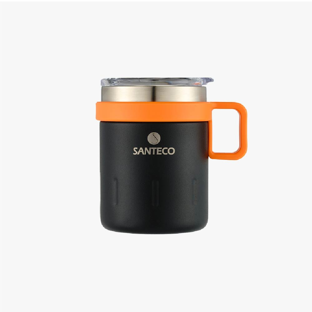 SANTECO|KEMI 透明上蓋馬克杯 350ml (碳黑)