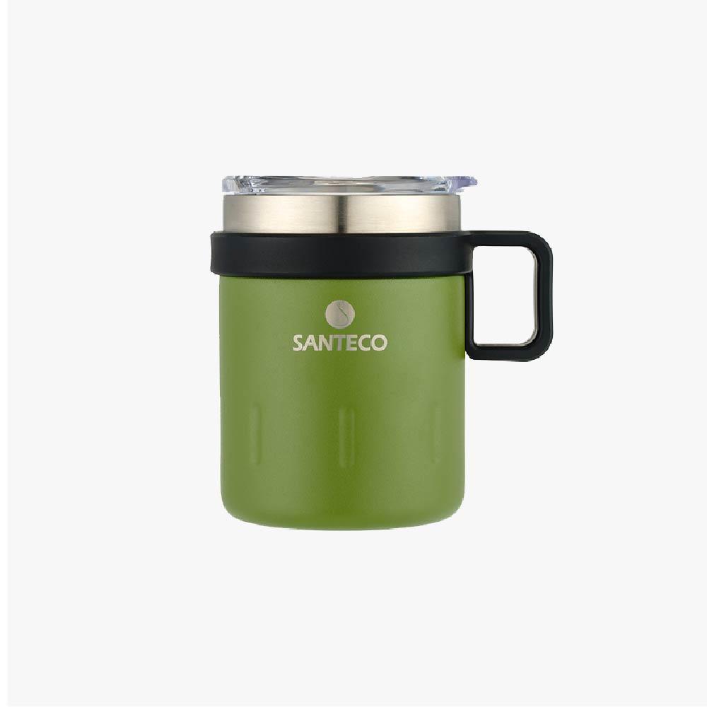 SANTENCO KEMI 透明上蓋馬克杯 350ml (苔綠)