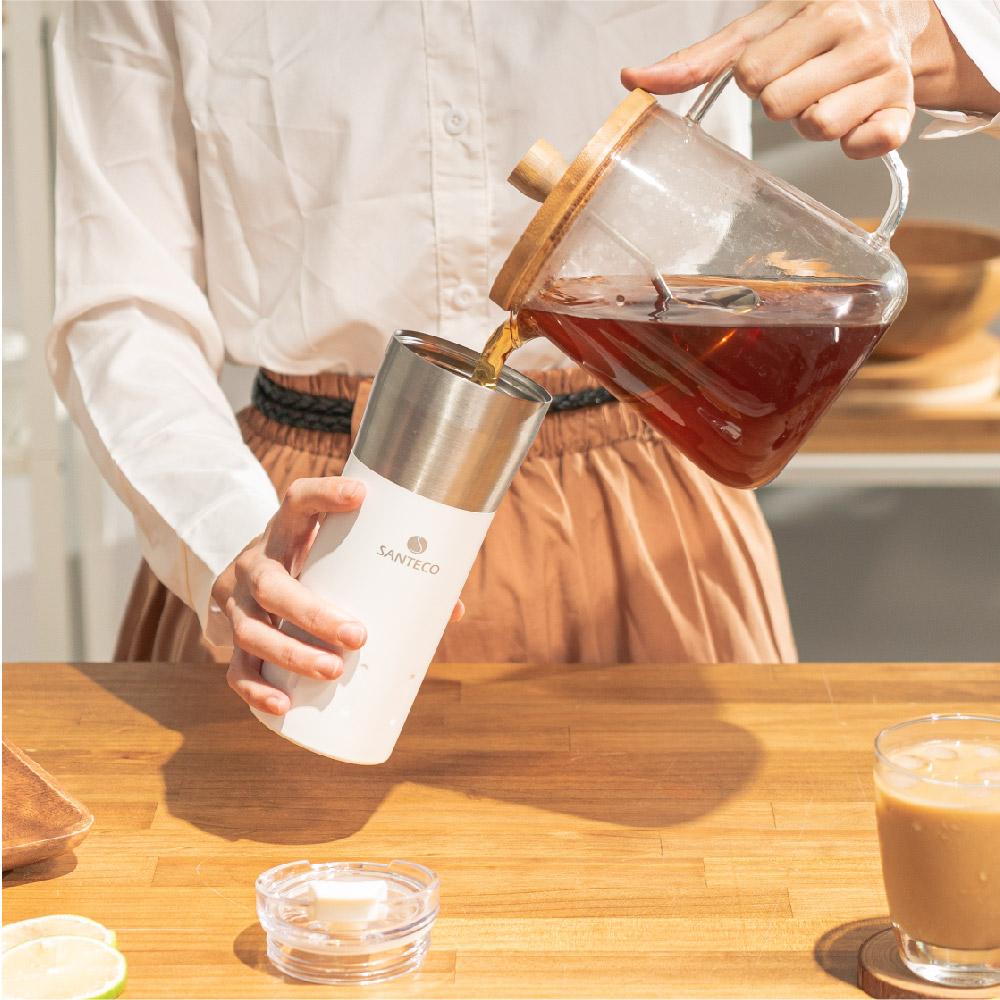 SANTENCO|KARIBA 透明上蓋保溫杯 500ml (牛奶白)