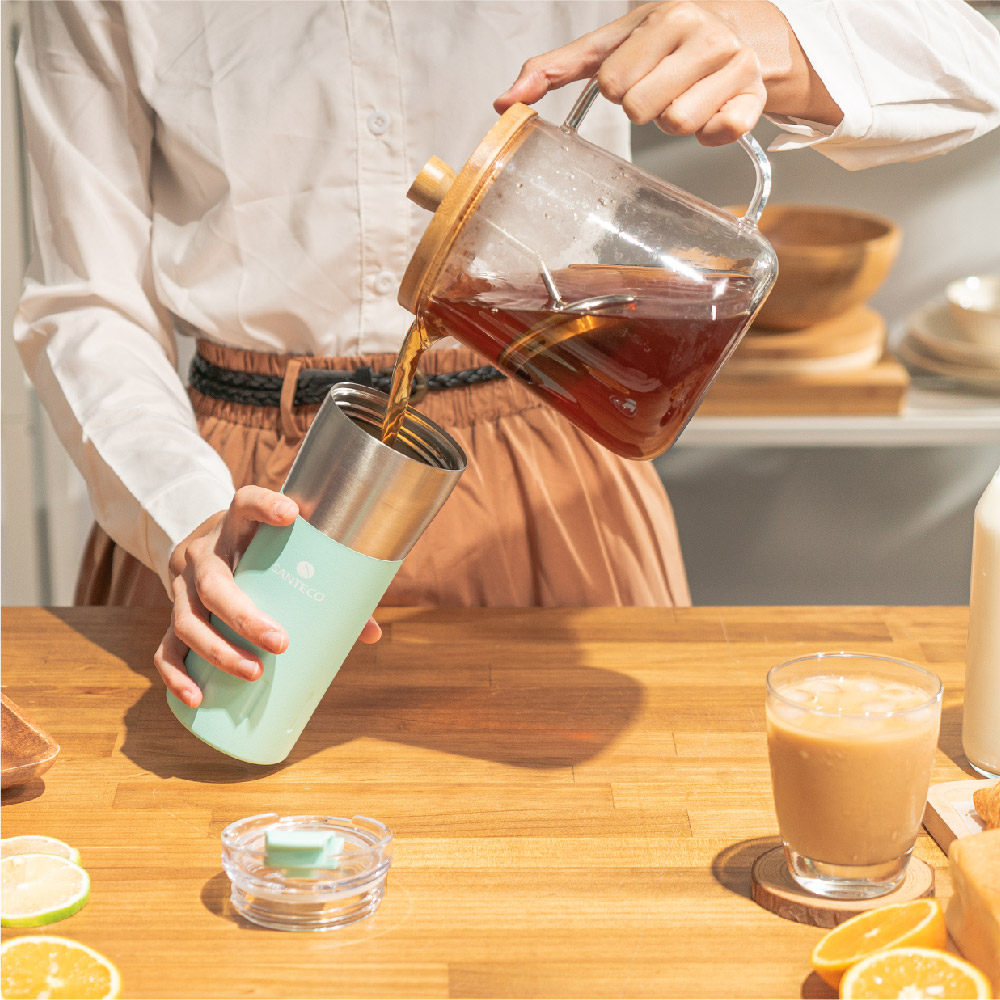 SANTENCO|KARIBA 透明上蓋保溫杯 500ml (薄荷綠)