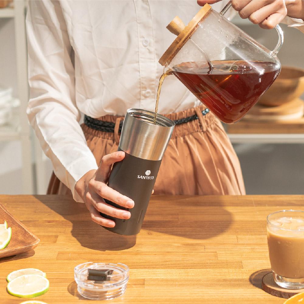 SANTENCO KARIBA 透明上蓋保溫杯 500ml (碳黑)