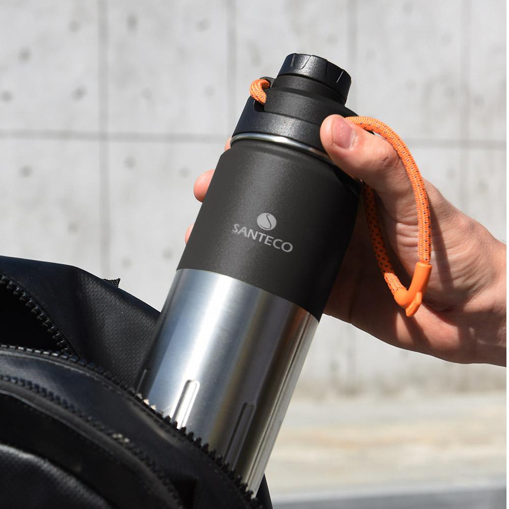 SANTECO|KTWO 戶外保溫瓶 500ml(碳黑)